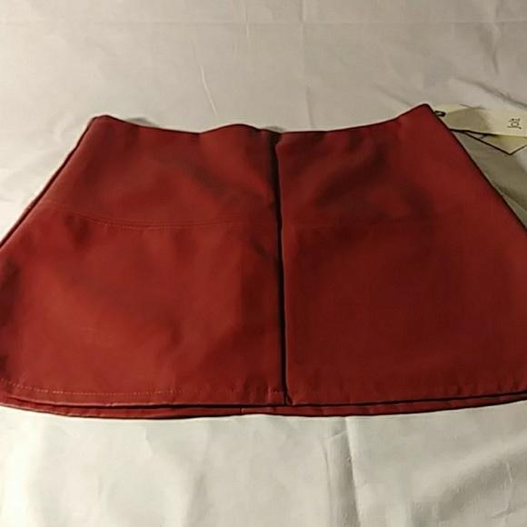 Jolt Dresses & Skirts - Jolt Faux Leather Skirt 5/27 Red